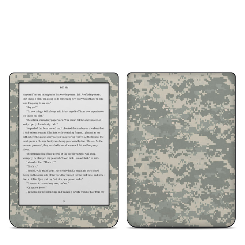 Kobo Clara HD Skin design of Military camouflage, Green, Pattern, Uniform, Camouflage, Design, Wallpaper with gray, green colors