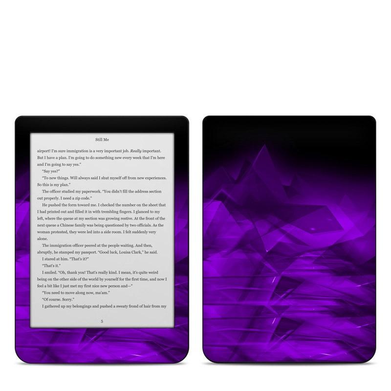 Kobo Clara HD Skin design of Violet, Purple, Pink, Magenta, Blue, Light, Red, Lilac, Petal, Electric blue with black, purple colors