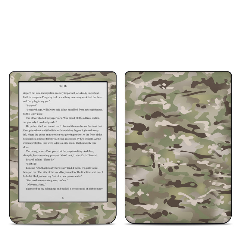 Kobo Clara HD Skin design of Military camouflage, Camouflage, Pattern, Clothing, Uniform, Design, Military uniform, Bed sheet with gray, green, black, red colors