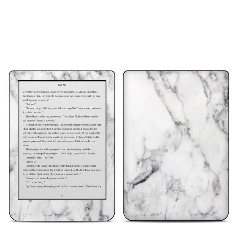 Kobo Clara HD Skin design of White, Geological phenomenon, Marble, Black-and-white, Freezing with white, black, gray colors