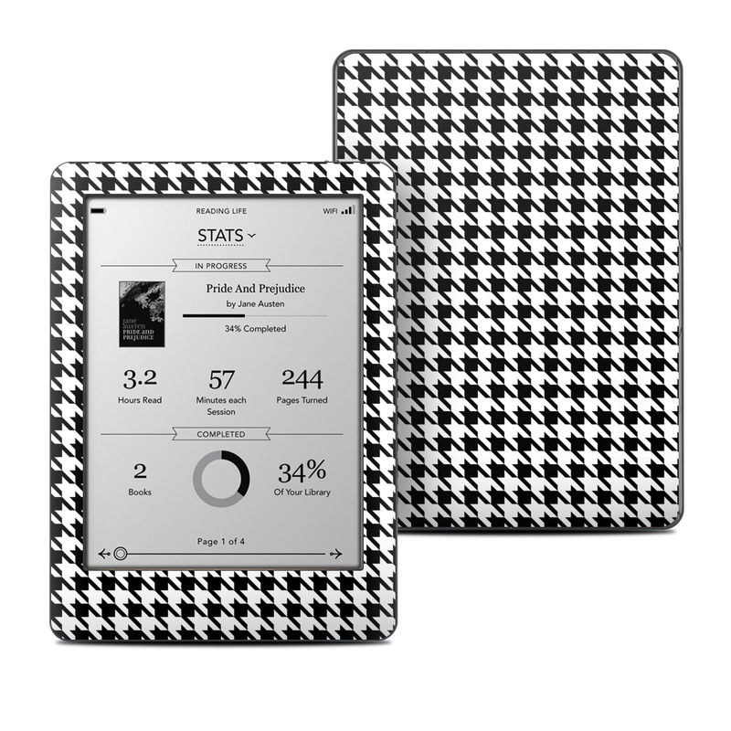 Kobo Glo Skin design of Pattern, Black-and-white, Line, Monochrome, Design, Monochrome photography, Textile, Parallel, Style with black, white, gray colors