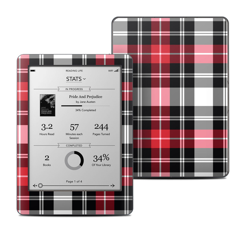 Red Plaid Kobo Glo Skin