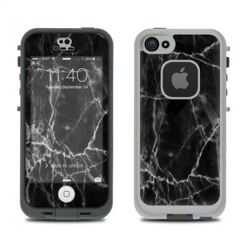 Black Marble LifeProof iPhone SE, 5s fre Case Skin