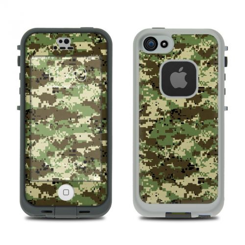 Digital Woodland Camo LifeProof iPhone SE, 5s fre Skin