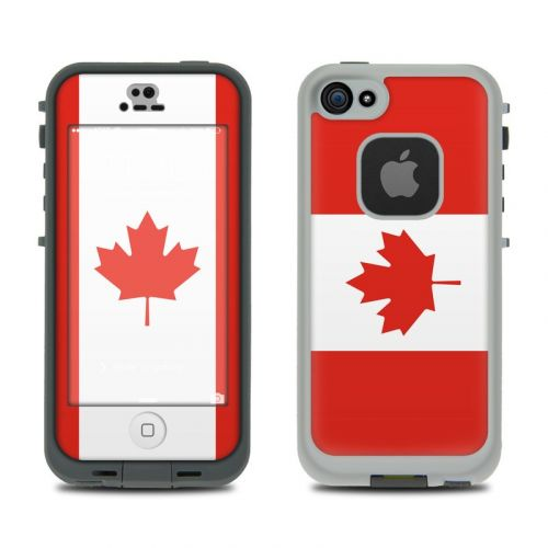 Canadian Flag LifeProof iPhone SE, 5s fre Skin