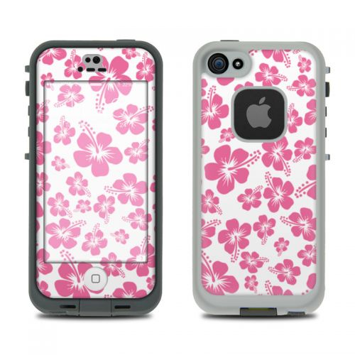 Pink Hibiscus LifeProof iPhone SE, 5s fre Skin
