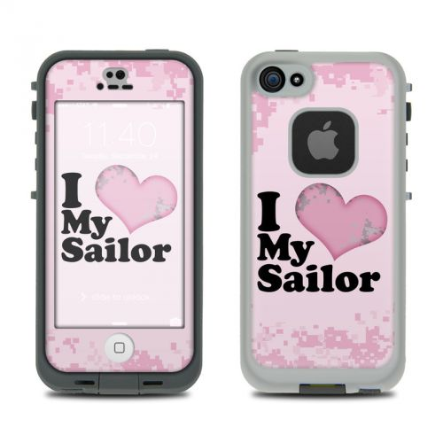 I Love My Sailor LifeProof iPhone SE, 5s fre Skin