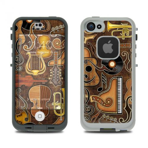 Music Elements LifeProof iPhone SE, 5s fre Skin