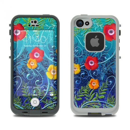 Poppies LifeProof iPhone SE, 5s fre Skin