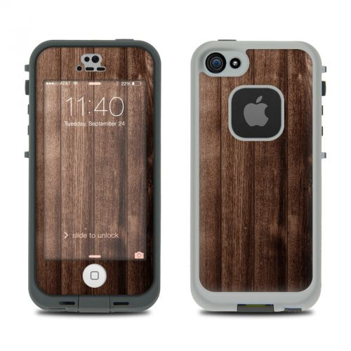 Stained Wood LifeProof iPhone SE, 5s fre Skin