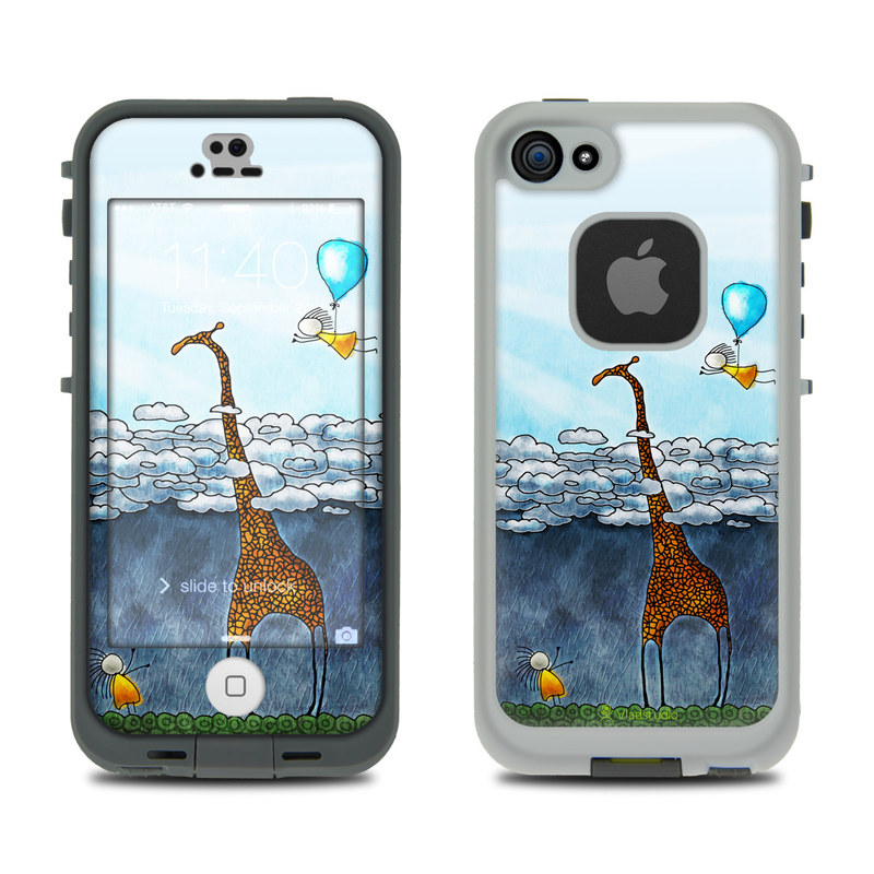 Above The Clouds LifeProof iPhone SE, 5s fre Skin