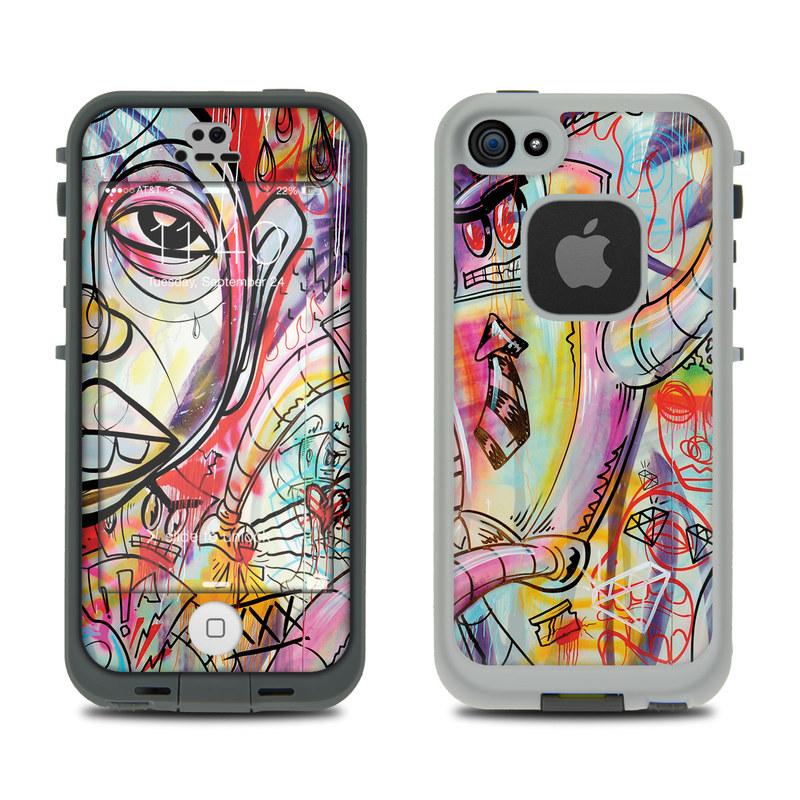 Battery Acid Meltdown LifeProof iPhone SE, 5s fre Case Skin