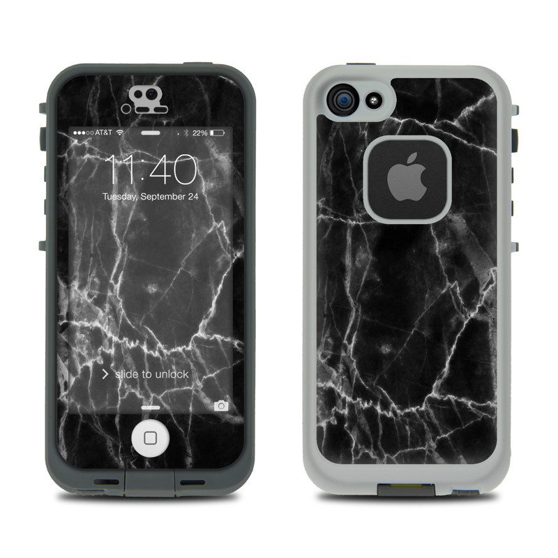 Black Marble LifeProof iPhone SE, 5s fre Skin