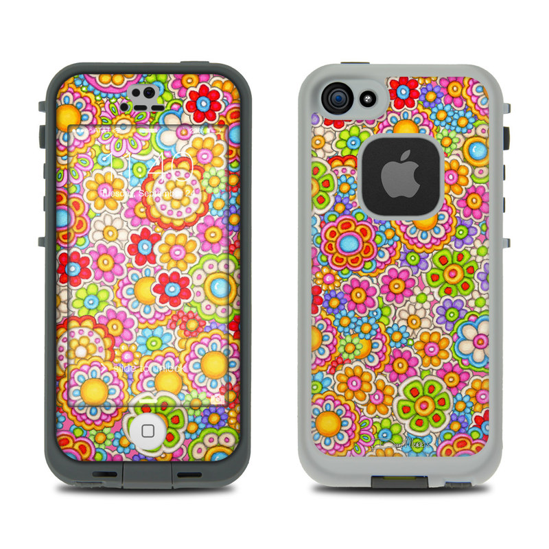 Bright Ditzy LifeProof iPhone SE, 5s fre Skin