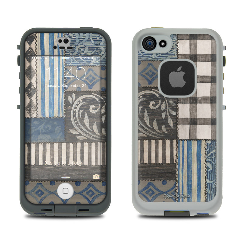 Country Chic Blue LifeProof iPhone SE, 5s fre Case Skin