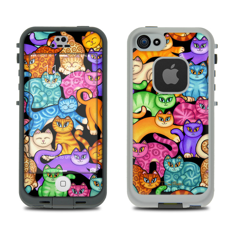 Colorful Kittens LifeProof iPhone SE, 5s fre Skin