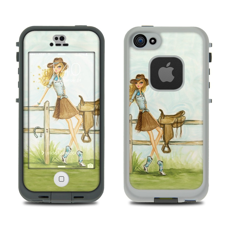 Cowgirl Glam LifeProof iPhone SE, 5s fre Case Skin