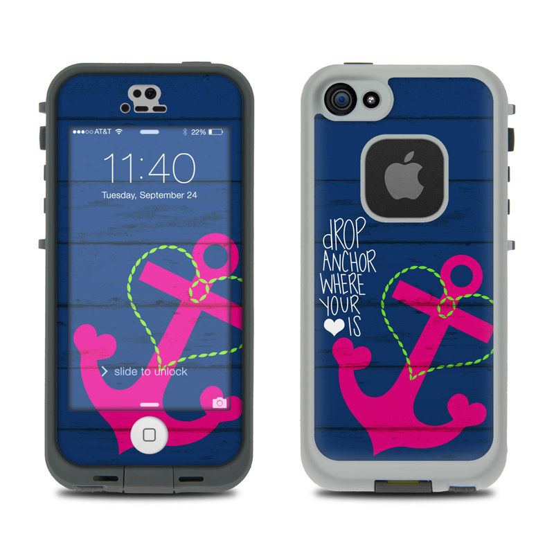 Drop Anchor LifeProof iPhone SE, 5s fre Case Skin