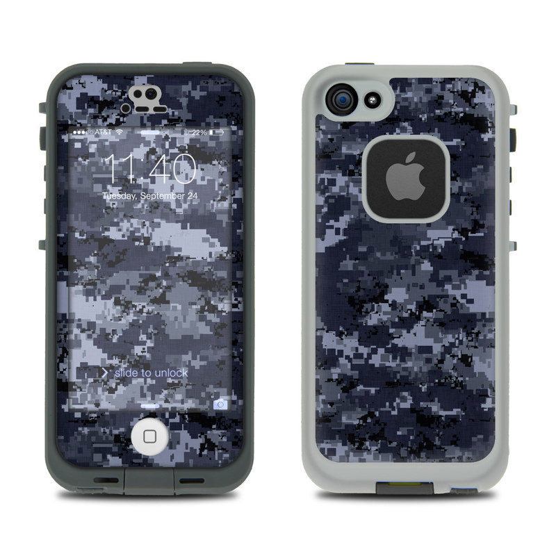 Digital Navy Camo LifeProof iPhone SE, 5s fre Case Skin