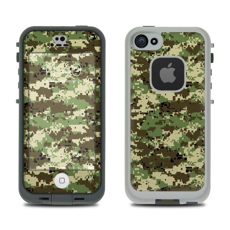 Digital Woodland Camo LifeProof iPhone SE, 5s fre Case Skin