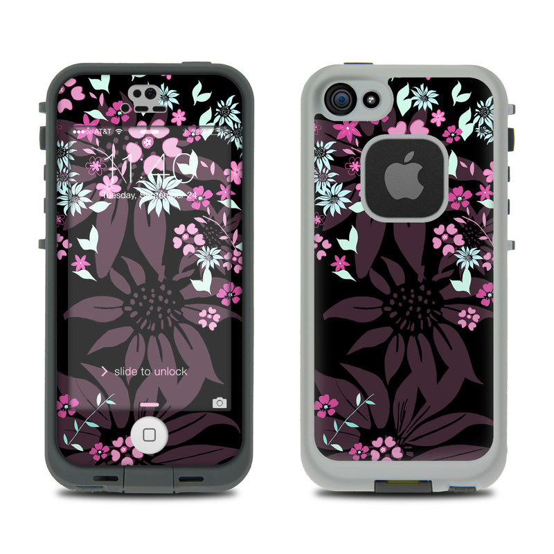 Dark Flowers LifeProof iPhone SE, 5s fre Case Skin