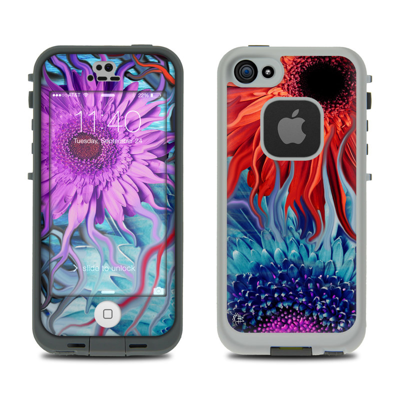 Deep Water Daisy Dance LifeProof iPhone SE, 5s fre Skin