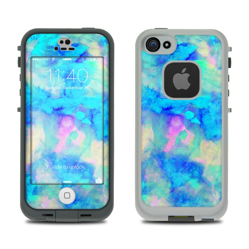 Electrify Ice Blue LifeProof iPhone SE, 5s fre Skin