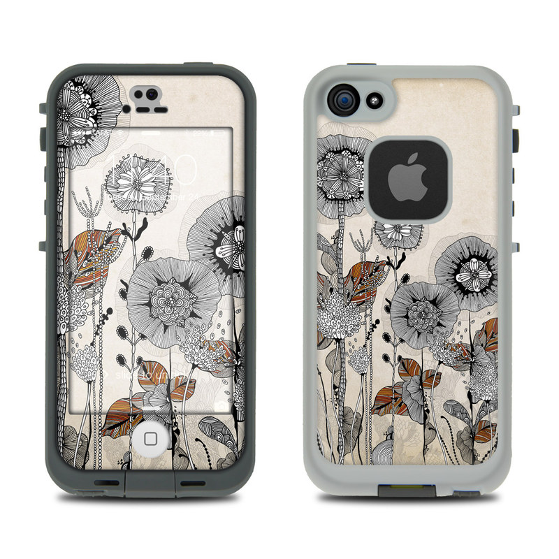 Four Flowers LifeProof iPhone SE, 5s fre Skin