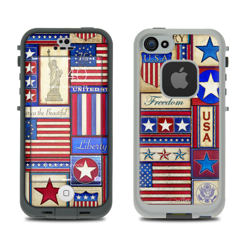 Flag Patchwork LifeProof iPhone SE, 5s fre Skin