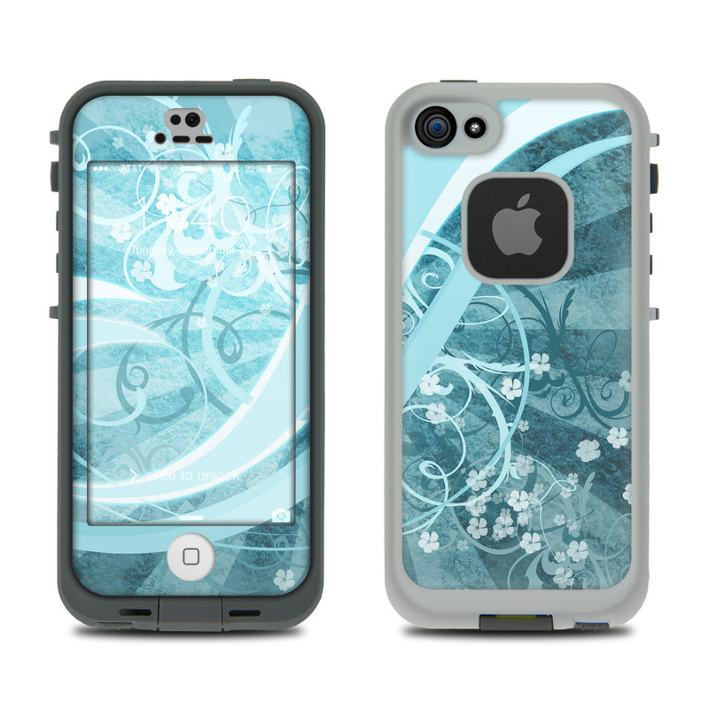 Flores Agua LifeProof iPhone SE, 5s fre Skin