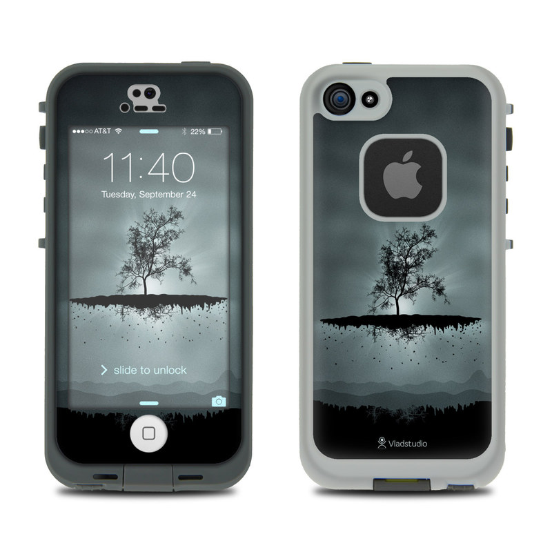 Flying Tree Black LifeProof iPhone SE, 5s fre Case Skin