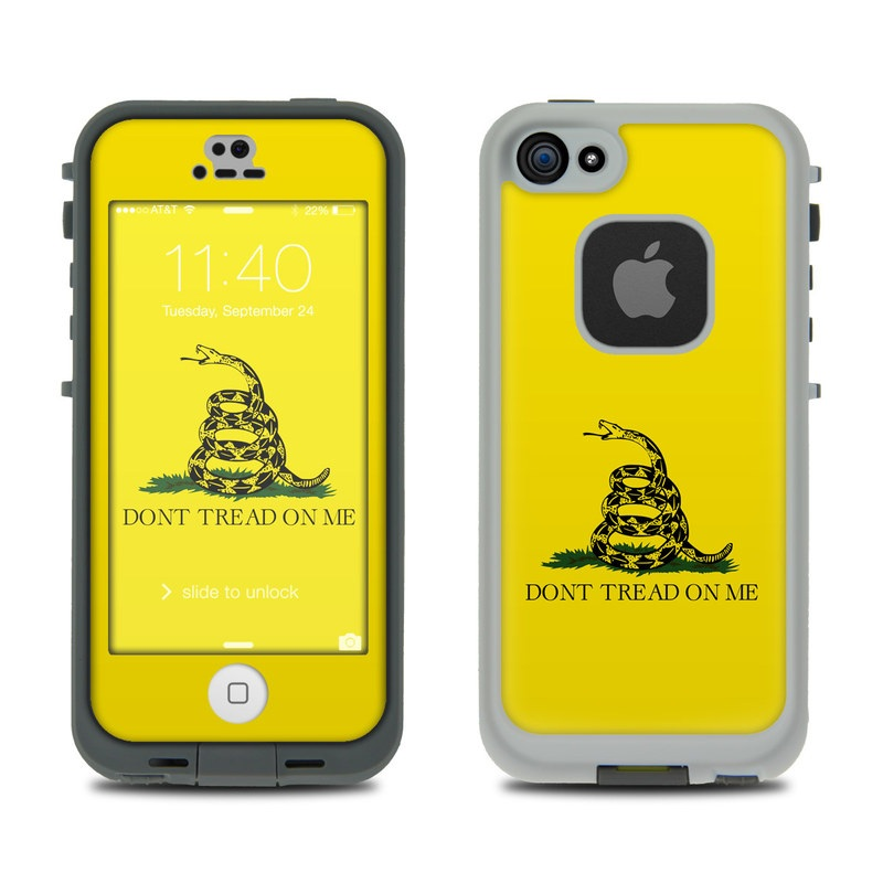 Gadsden Flag LifeProof iPhone SE, 5s fre Case Skin
