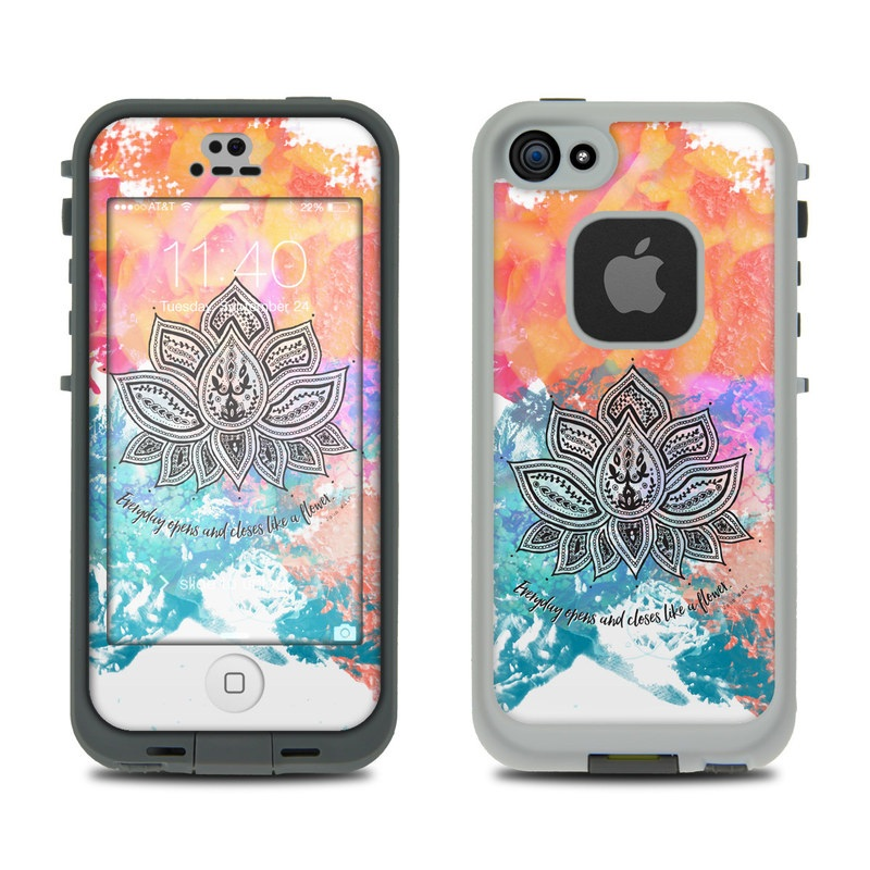 Happy Lotus LifeProof iPhone SE, 5s fre Skin