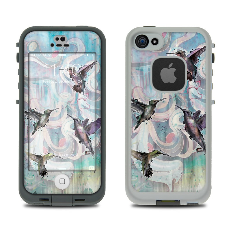 Hummingbirds LifeProof iPhone SE, 5s fre Skin