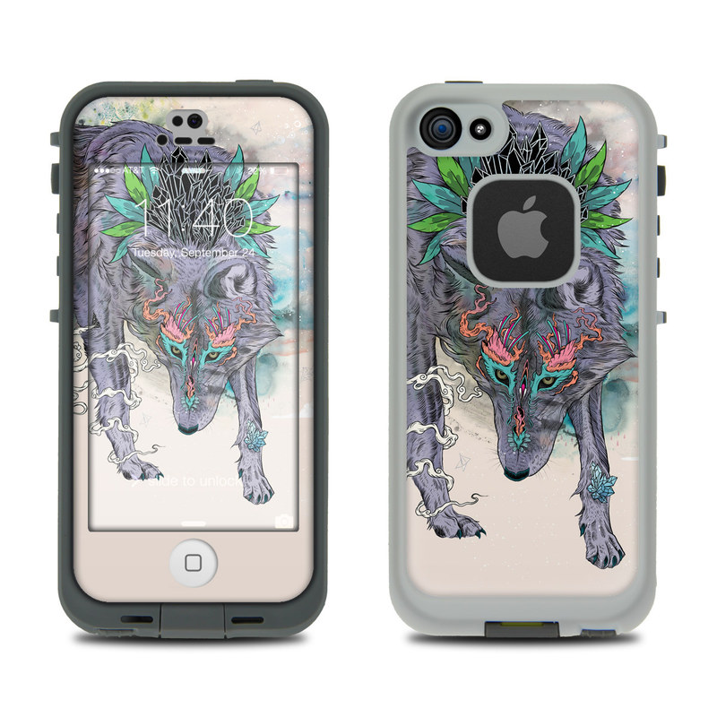 LifeProof iPhone SE 1st Gen, 5s fre Case Skin design of Illustration, Boar, Art, Drawing, Fictional character, Sketch, Suidae with gray, pink, black, blue, yellow colors