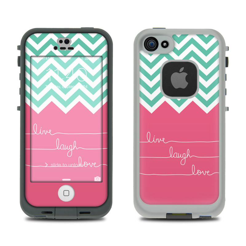 Live Laugh Love LifeProof iPhone SE, 5s fre Case Skin