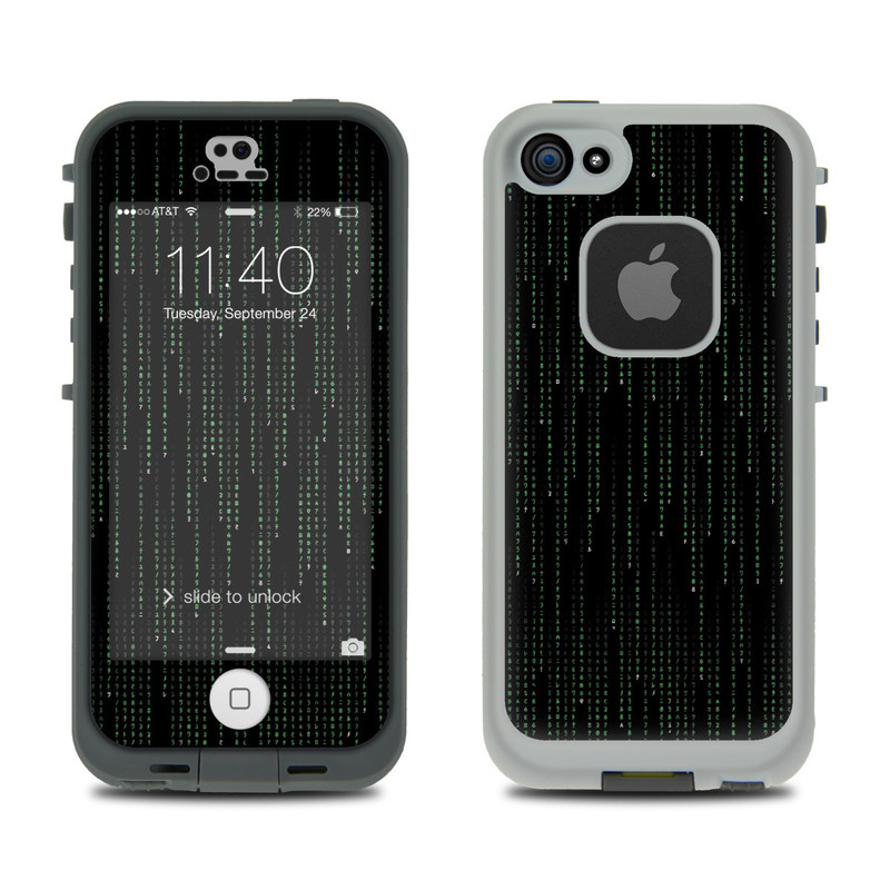 Matrix Style Code LifeProof iPhone SE, 5s fre Case Skin