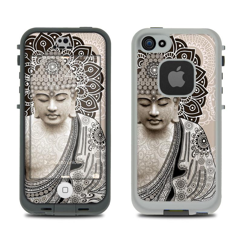 Meditation Mehndi LifeProof iPhone SE, 5s fre Case Skin