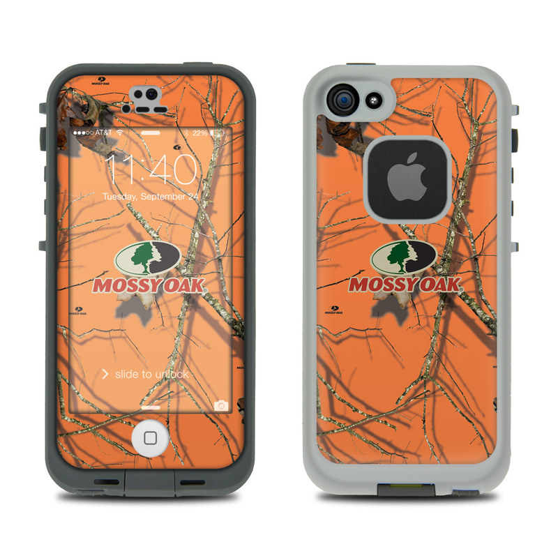 LifeProof iPhone SE, 5s fre Case Skin design of Tree, Botany, Branch, Root, Plant, Illustration, Adaptation, Art, Graphic design, Drawing with orange, green, red, black, gray colors