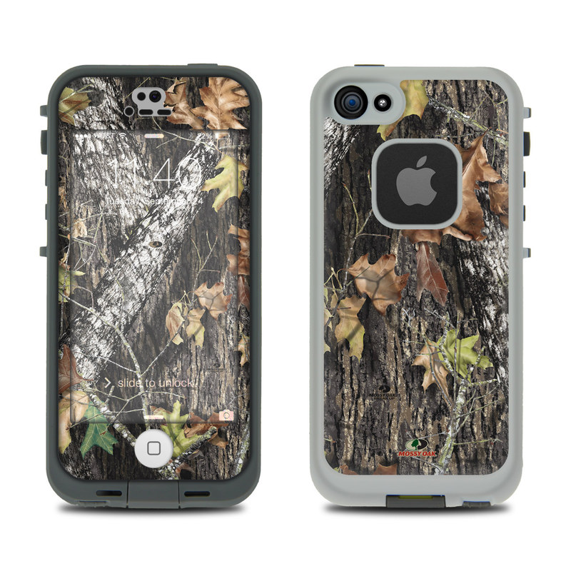LifeProof iPhone SE, 5s fre Case Skin design of Leaf, Tree, Plant, Adaptation, Camouflage, Branch, Wildlife, Trunk, Root with black, gray, green, red colors