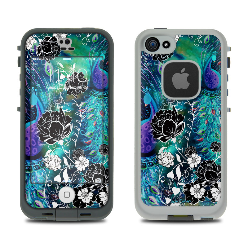 Peacock Garden LifeProof iPhone SE, 5s fre Case Skin