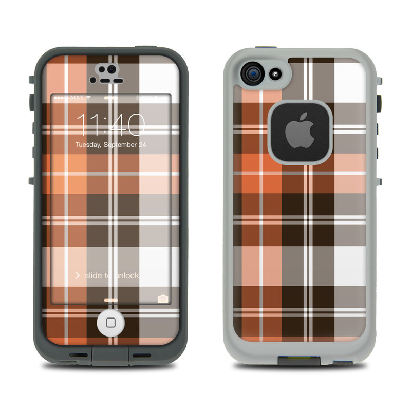 Copper Plaid LifeProof iPhone SE, 5s fre Skin