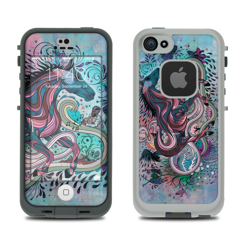 Poetry in Motion LifeProof iPhone SE, 5s fre Skin