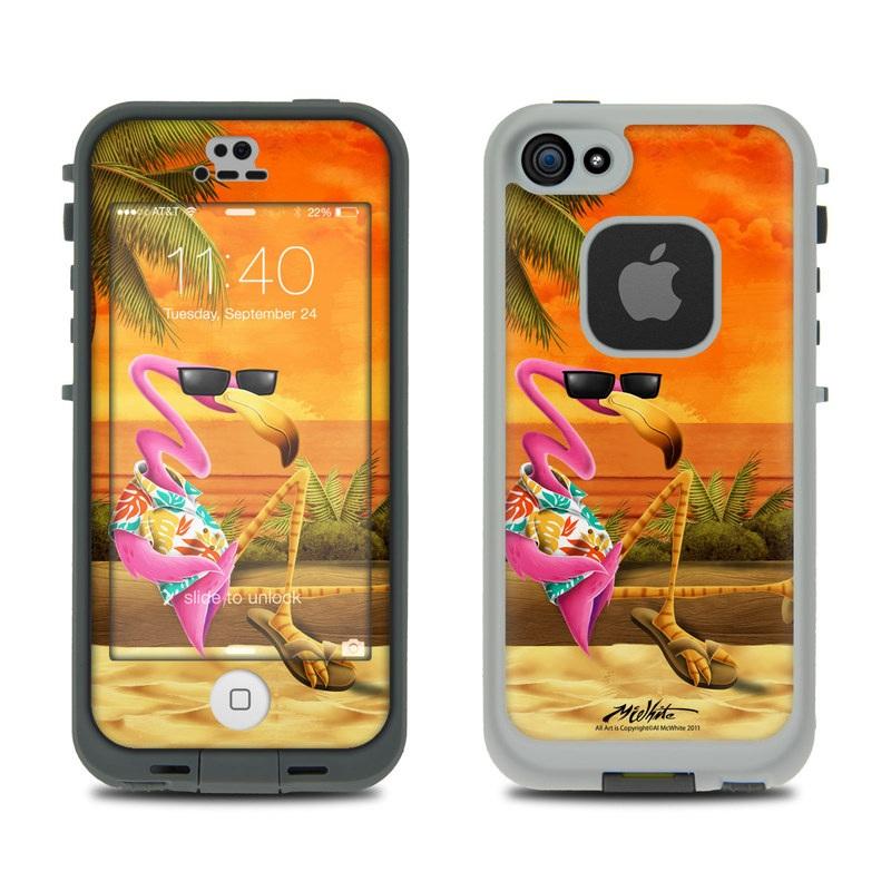Sunset Flamingo LifeProof iPhone SE, 5s fre Skin
