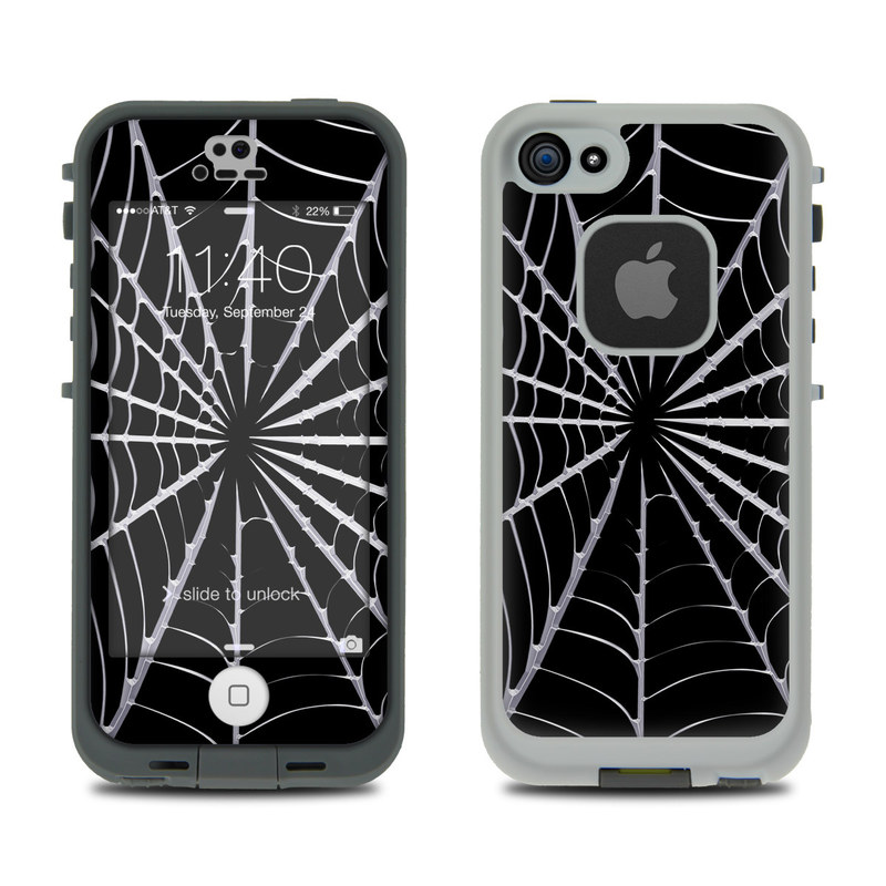 Spiderweb LifeProof iPhone SE, 5s fre Skin