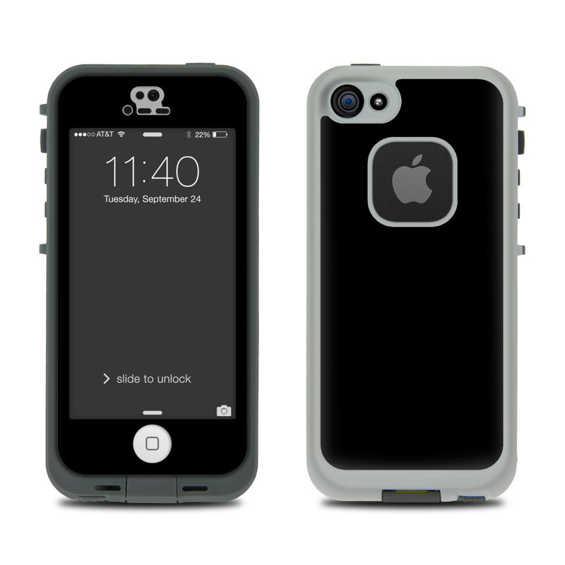 Solid State Black LifeProof iPhone SE, 5s fre Case Skin