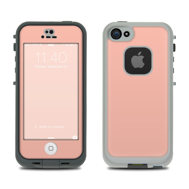 Solid State Peach LifeProof iPhone SE, 5s fre Case Skin