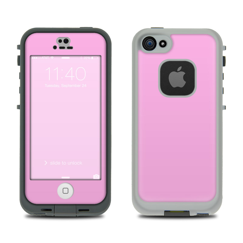 Solid State Pink LifeProof iPhone SE, 5s fre Case Skin