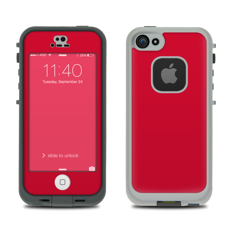 Solid State Red LifeProof iPhone SE, 5s fre Case Skin
