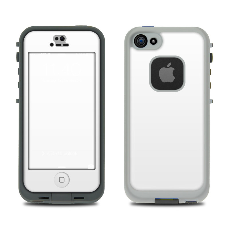 LifeProof iPhone SE, 5s fre Case Skin design of White, Black, Line with white colors